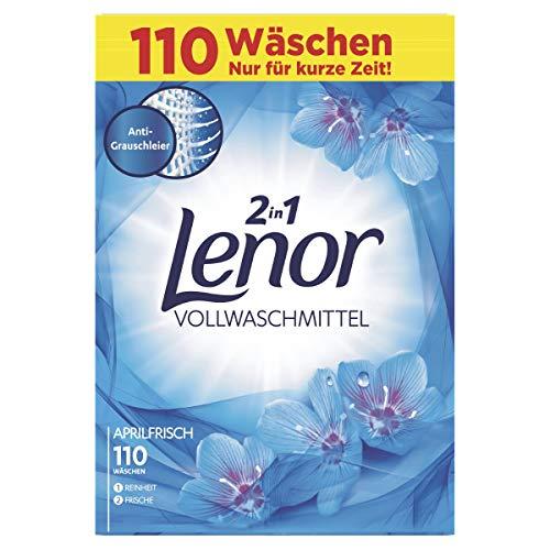Lenor Vollwaschmittel Pulver Aprilfrisch, 1er Pack (1 x 110 Waschladungen)