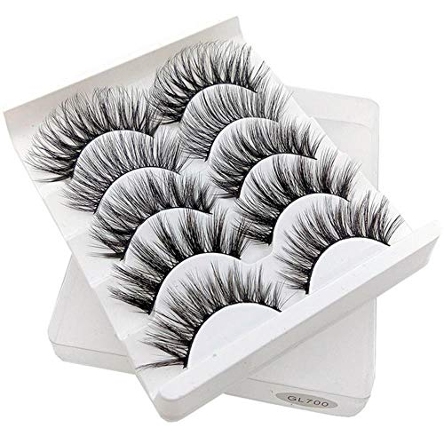 KADIS Mixed Model 3D Eyelashes Long Lasting Lashes Natural False Eyelashes 100% Handmade Fake Eyelashes Beeauty Makeup,GL700
