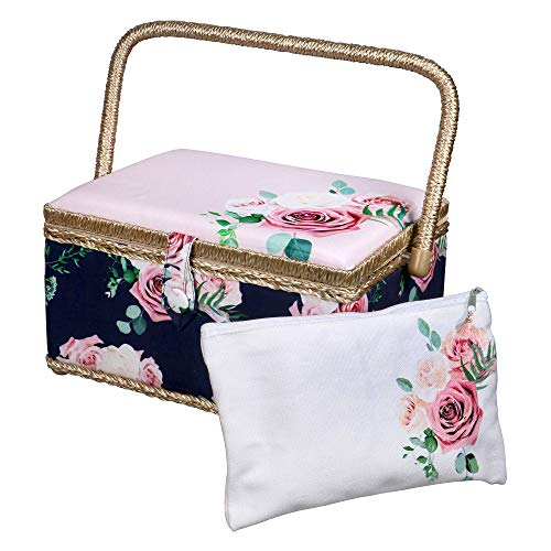SINGER Sewing Basket - Modern Floral Print