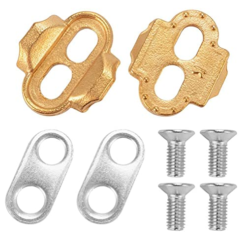 Bike Cleats, Bike Bicycle Cleat Set Compatible with Pedals Shimano Mtb Spd Indoor Cycling & Road Mountain Biking