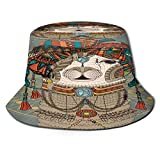 Sombrero de Pesca,Sombreros Coloridos con Llama con Accesorios, Pendientes, Collar, Animal Abstracto,Senderismo para Hombres y Mujeres al Aire Libre Sombrero de Cubo Sombrero para el Sol