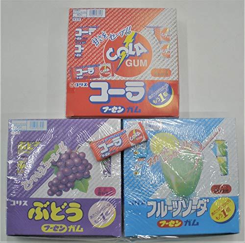 コリスガム フルーツソーダ・コーラ・ぶどう 3箱セット