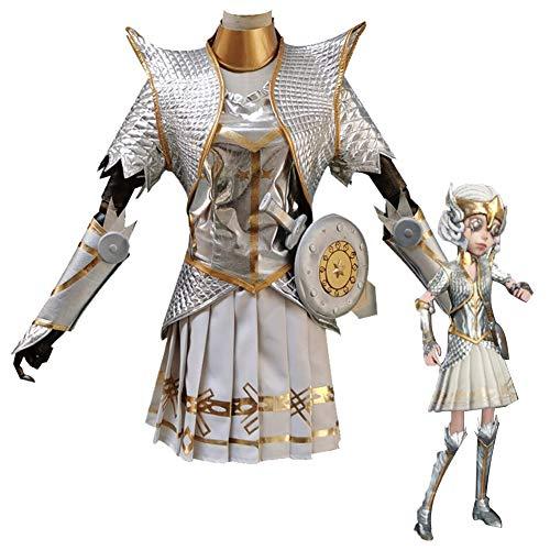 GGOODD Anime Fünfte Persönlichkeit Margaretha Zelle Cosplay Kostüm Frauen Silber Weiß Walküre Kostüm Kampfanzug Set,Women,M