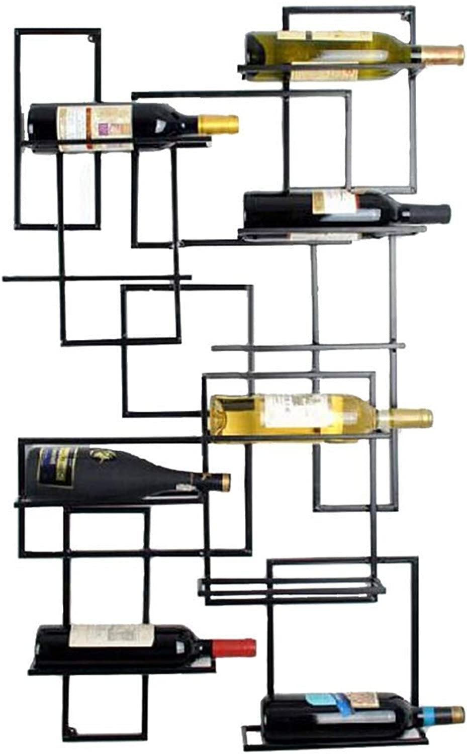 SYF Rack Adjustable Height Wall-Mounted Bottle Rack Glass Holder Metal Wall-Mounted Wine Bottle Rack Wine Rack  Metal Iron Wine Glass Holder Goblet Holder A+