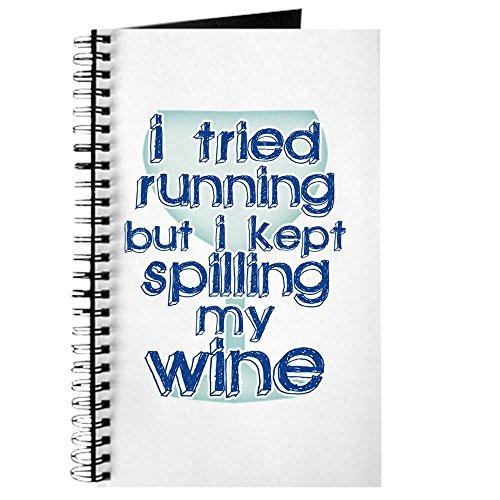 CafePress–Lazy Wein trinken Humor–Spiralbindung Journal Notebook, persönliches Tagebuch, Aufgabe Tagebuch
