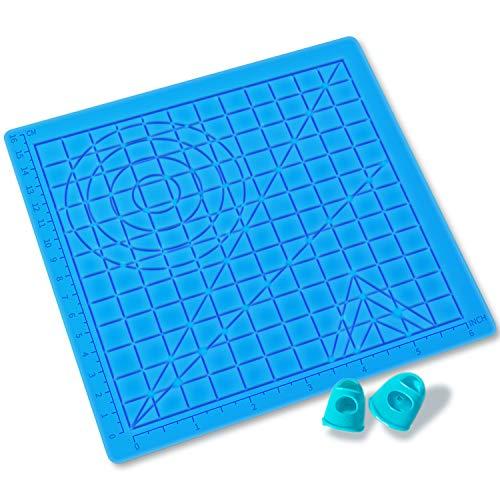 Alfombrilla de silicona para bolígrafo 3D,GIANTARM Pluma de Impresión 3D accesorios,adecuado para principiantes, niños y amantes de los bolígrafos 3D…