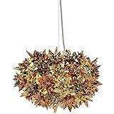 Kartell Bloom Lampada da Soffitto E27, Oro (Ottone)