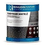Renaudin Peinture 191202 Peinture De Décoration Métal - Effet Martelé, Gris Moyen, 2,5 L