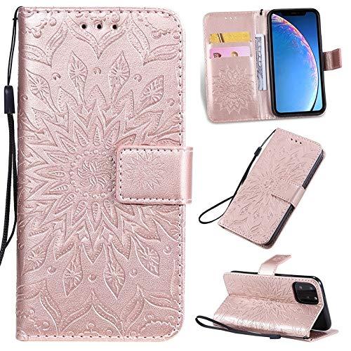 Kunyun Diseño de impresión de Girasol Caja Protectora de la Cartera de la Cartera de la Cartera de la PU con la Ranura de la Tarjeta del Soporte Compatible con el iPhone 11 Pro (5,8 Pulgadas).