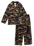 Komar Kids Boys' Bear Camo 2pc Pajama Coat Set, Kids Size XS(4/5)