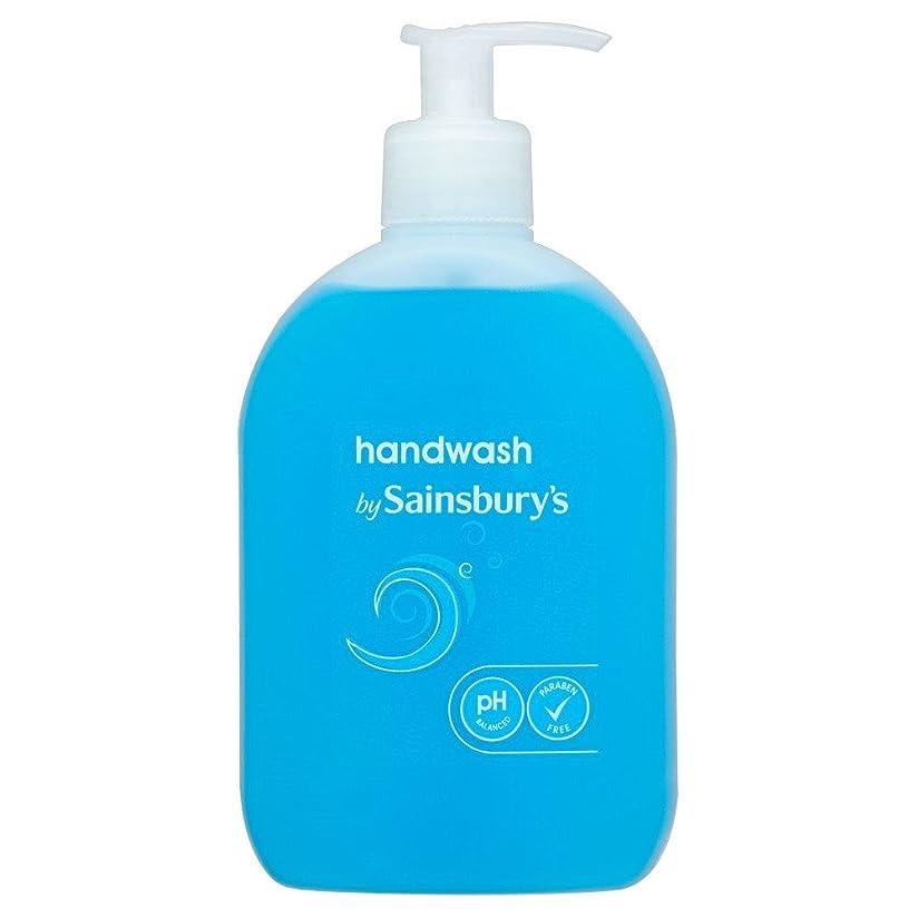 雪閃光素人Sainsbury's Handwash, Blue 500ml (Pack of 4) - (Sainsbury's) 手洗い、青500ミリリットル (x4) [並行輸入品]
