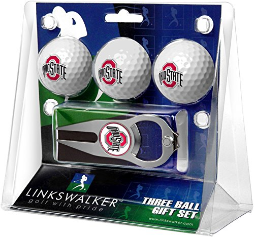 Lowest Price! NCAA Ohio State Buckeyes - 3 Ball Gift Pack with Hat Trick Divot Tool