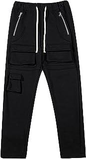 Zwykłe męskie spodnie, luźne męskie spodnie dresowe w stylu hip-hop do sportów szkolnych i codzienna elastyczność Nie blak...