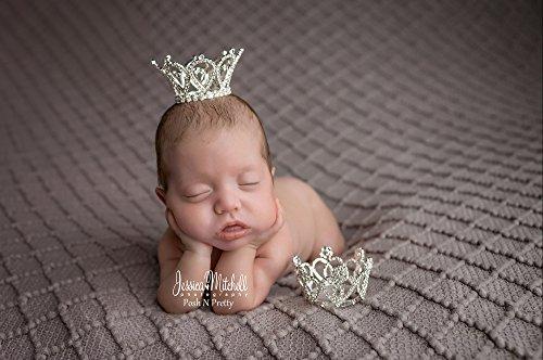 Rhinestone Sparklicious Photo Prop Newborn Baby Crown - Princessa. Gorgeous