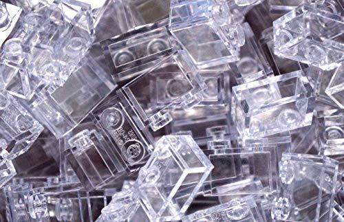 LEGO City - 50 Steine in transparent klar mit 1x2 Noppen
