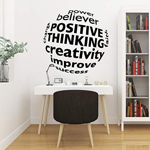 Positives Denken Kreativität Selbstklebende Vinyl Kunst Aufkleber für Kinderzimmer Diy Dekoration Wandaufkleber Braun XL 57cm X 58cm