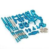Metal Kit Recambio Coche RC Set de Accesorios Piezas Mejoradas para Wltoys 12428 12423,1:12 Control Remoto Coche - Azul