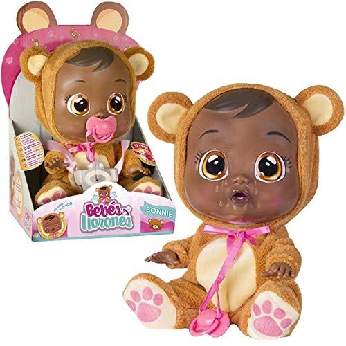 Boneca Cry Babies Bonnie Negra Que Chora de Verdade Para Bebe - Multikids Baby, Multicolor
