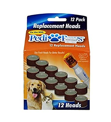 PediPaws Replacement Filing Heads 12 Replacement Heads- As Seen on TV. from Telebrands