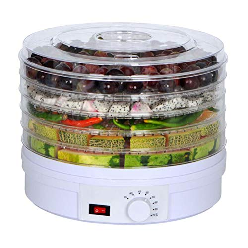 Find Bargain 5 Layers Food Dehydrator, 35~70°C Temperature Setting, Fruit Dryer Machine, Dehydrator Machine for Fruit, Vegetables, Meats and Chili, BPA-Free, 350W