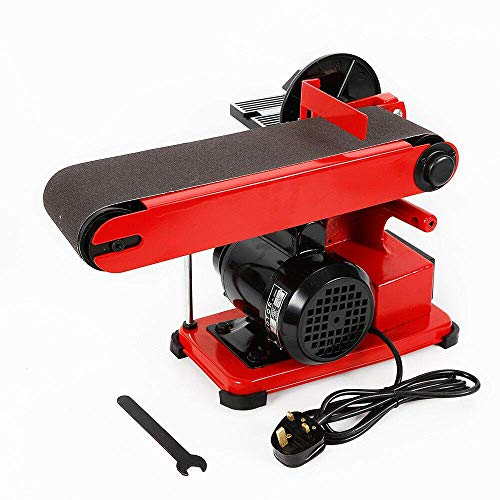 Futchoy 375W 4' 1/2HP Bench Belt Sanders Heavy Duty Disc Grinder Machine Kit for Metalworking Wood, Electric 4'X36' Belt, 220V