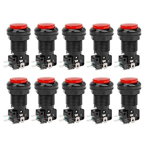Botón PUSH, MICRO BOTERS WALL SERVICIO DE PARED LIFE ABS Botón de encendido para consolas de juegos Crane Machine BEM-Y33 (verde, rojo)