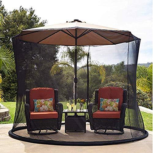 Modische Dekoration Sonnenschirm-Moskitonetz - Polyester-Mesh-Bildschirm mit Reißverschlussöffnung und Wasserschlauch an der Basis zum Festhalten - Schutz vor Mücken, 275 cm220 cm
