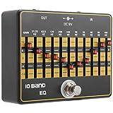 Efectos de guitarra, ecualizador de 10bandas efectos de guitarra pedales diseño de bypass verdadero efectos de guitarra silenciosos carcasa de aleación de aluminio accesorios para guitarra eléctrica