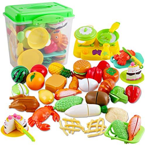 deAO Juego de Comida, Frutas y Verduras para Cortar Conjunto