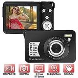 Digitalkamera 1080P 30 Megapixel Full HD Fotoapparat digitalkamera Wiederaufladbare 2,7-Zoll-Fotokamera mit 8-Fach Digitalzoom-Kompaktkamera für Teenager-Anfänger