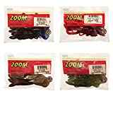 Bundle: Zoom Lizard Bait Lures - 6' Black/Blue Tail 9 Pack, 6' Cherry Seed 9 Pack, 6' Pumpkin Chartreuse 9 Pack and 6' Watermelon Seed 9 Pack