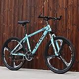 Adulti Mountain Bike, Biciclette Giovanile Città degli Studenti Road Racing, Doppio Freno a Disco off-Road Neve Biciclette, 24 Biciclette Pollice Ruote Beach,Blu,27 Speed