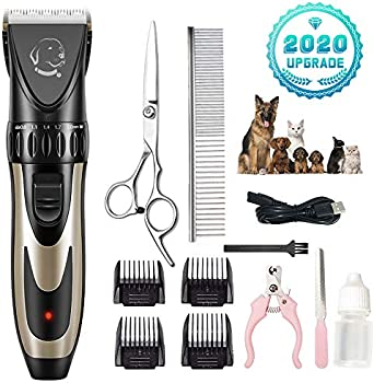 Liaointec Dog Shaver Clippers with Comb Guides Scissors Nail Kits