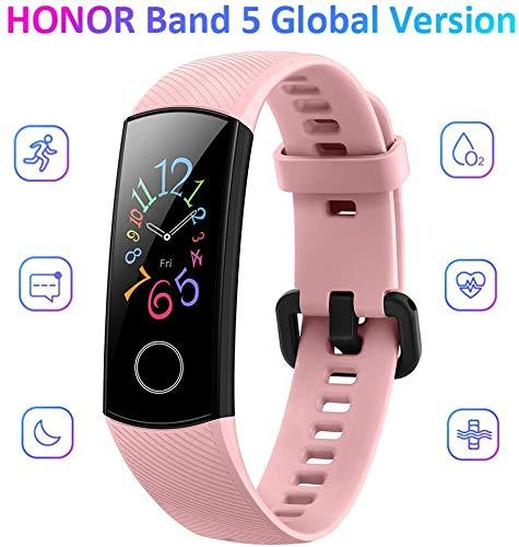 """HONOR Band 5 Smartwatch Fitness Donna Uomo Activity Tracker,Braccialetto Bluetooth,Cardiofrequenzimetro da Polso Impermeabile Schermo 0.95\""""Touchscreen,con Monitoraggi e Funzioni Sport,rosa"""