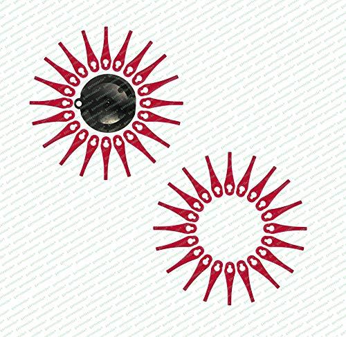 40 Ersatzmesser, Messer, Schneidplättchen, Kunststoffmesser mit Schneidscheibe, passend für Akku Rasentrimmer FRTA 20 A1 - LIDL IAN 282271