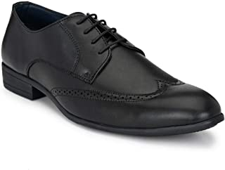 Park Avenue Solid Pattern Men's Black Coloured Synthetic Formal Shoes