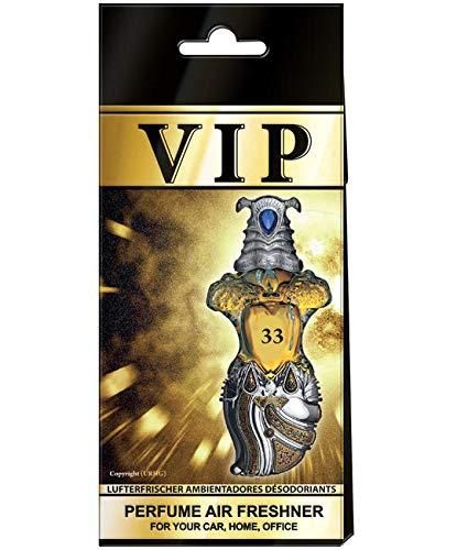 5 x Caribi VIP auto luchtverfrisser parfum thuis kantoor geur vergelijkbaar met dure parfum nr. 33