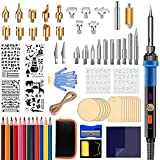 77 pcs Wood Burning Kit, Professional Woodburning Tool with Adjustable Temperature Soldering Iron, Wood Burner Pen Tool and Accessories for Embossing/Carving/Soldering Tips