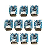 10Pcs Boost Step Up 5V 1A Power Supply Module Lithium Battery Charge Protection Board 134N3P DIY Charger USB and Micro USB Port with LED Display