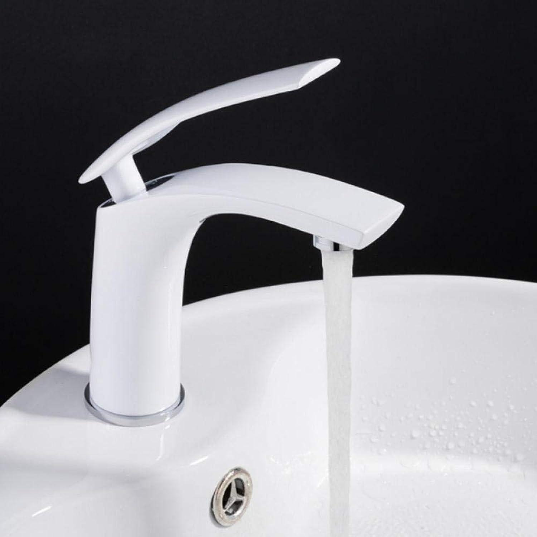 Hiwenr Neue Einfache Becken Wasserhahn Wasserhahn Bad Wasserhahn Massivem Messing Weie Farbe Finish Einzigen Handgriff Waschbecken Mischbatterie