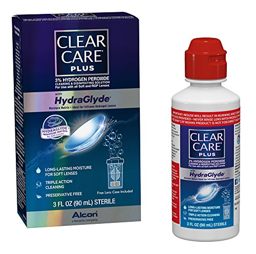 Clear Care Plus Cleaning and Disinfecting Solution, (0065036342), Travel Pack, 3 Fl Oz