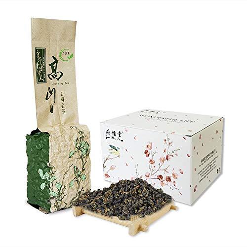 Yan Hou Tang Taiwan Green Oolong Tea Loose Leaf Organic Gunpowder Full Four Seasons Spring Weight Loss Detox - 150g Fragrance Taste Formosa High Mountain Raw Low Fermented