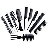 LDGR Cepillo para el Pelo 10pcs / Set Antiestático Peina El Pelo Establece Pelo del Corte del Peluquero Peine Salón De Peluquería Hair Care Styling Herramientas For Las Mujeres De Los Hombres De Pelo