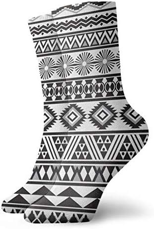 Sokken Tribal Gestreept Naadloos Patroon Sport Atletische Sokken Casual Sokken Warmer Polyester Crew Tube Kousen 118 inch Voor Man Vrouw