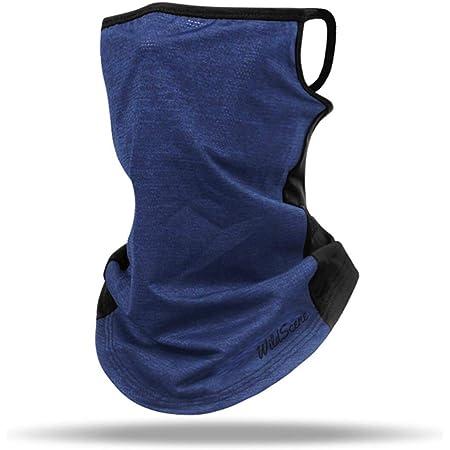 Wild Scene フェイスカバー 耳かけ 冷感 UV カット 口元メッシュ/釣具メーカーが作った洗えるフェイスカバー
