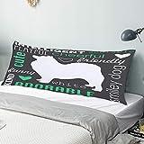 Funda Almohada Cuerpo,Perro Samoyedo Lindo,Funda de Almohada Larga y Suave con Cierre de Cremallera Sofá de Dormitorio Decorativo 20'x 54'
