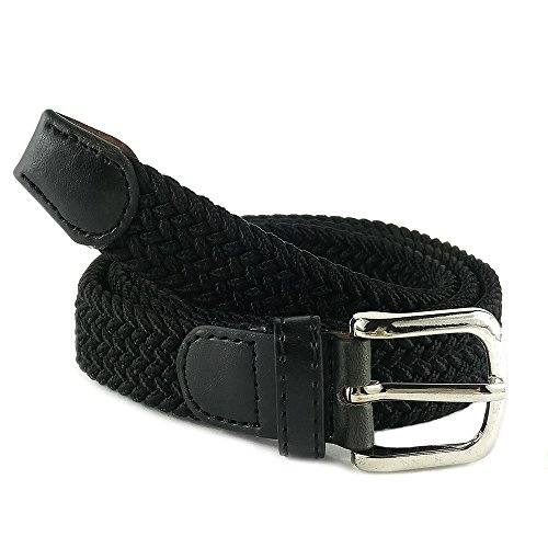 MYB Cintura elastica intrecciata per Donna - altezza 25mm - diversi colori e taglie (95-100 cm, Nero)