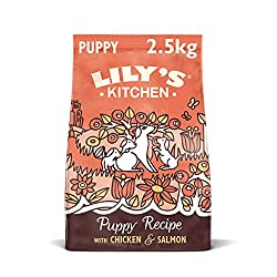 Nutritionally complete, grain free and natural dry food for puppies (4 weeks +) Full of protein and prepared with: 27 Percent chicken, 10 Percent salmon and 7 Percent chicken liver Natural dog food with added vitamins and minerals for your puppy heal...