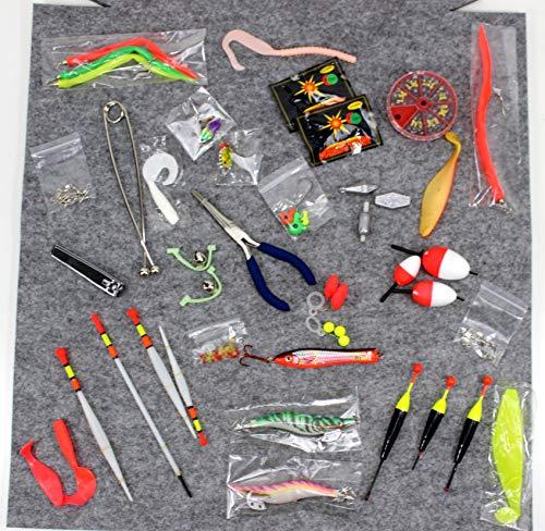 qm basic ADVENTSKALENDER Angler Fischer zum Selbst Befüllen 2020 Männer Angel Werkzeug XXL Weihnachtskalender 24 Säckchen ü5ü 60