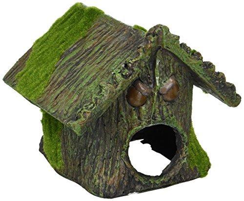 DealMux Aqua paesaggio artificiale Tree House decorazione della resina, 15 x 16 x 15 centimetri